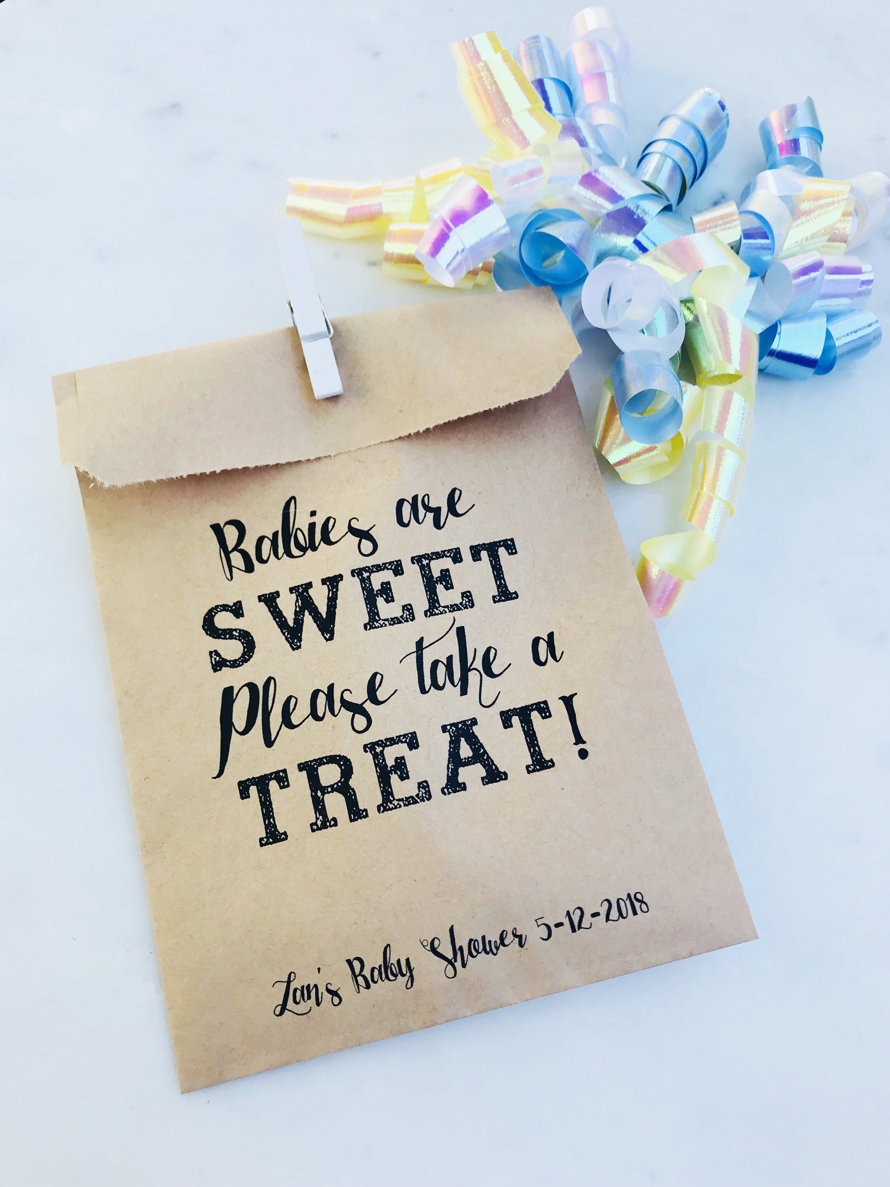 Babies Are Sweet Baby Shower Favor Bags