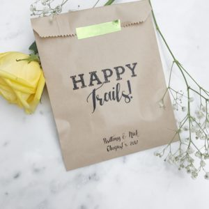 Happy Trails Trail Mix Favor Bags
