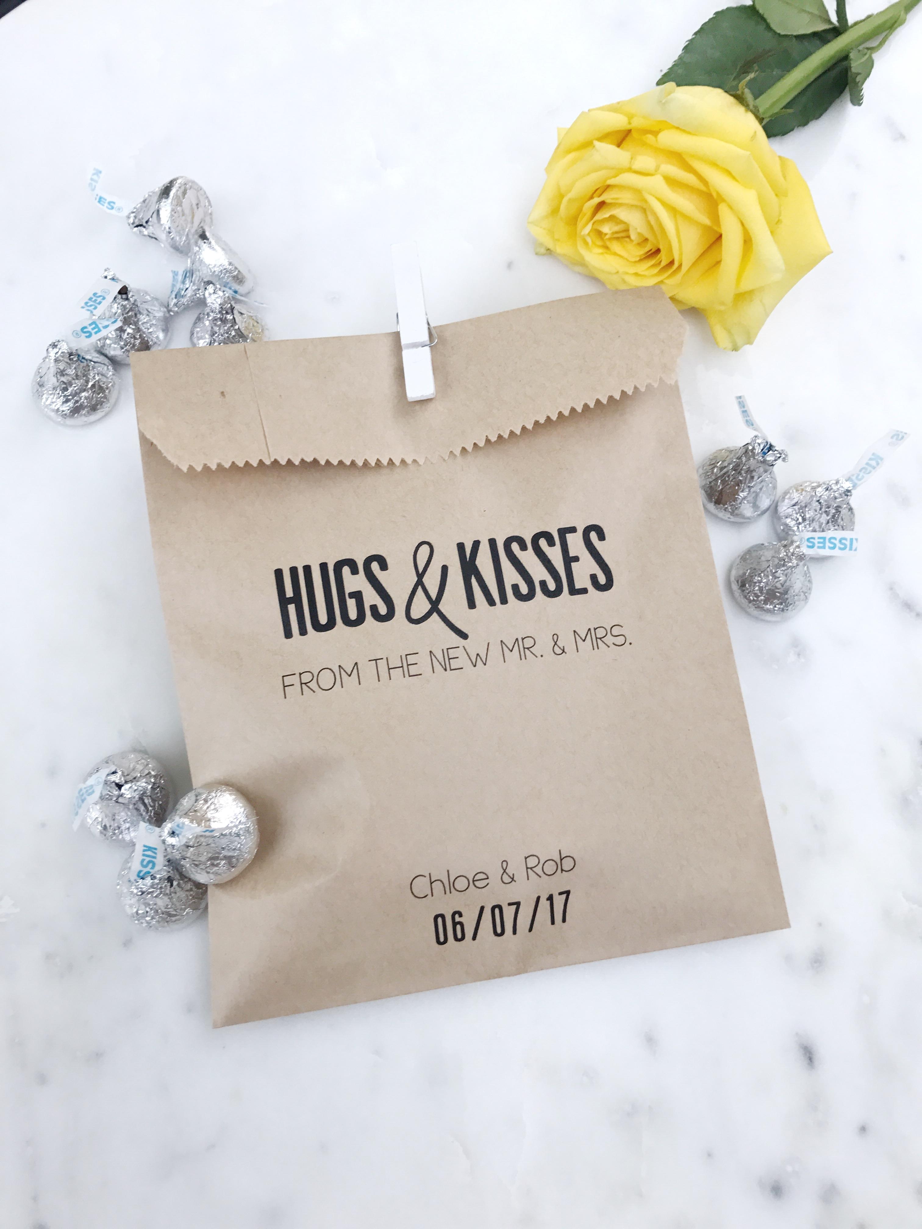 Hersey Kisses Wedding Favor Bags - SALTED Design Studio