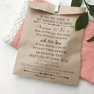 Funny Carnival Wedding Program Bag