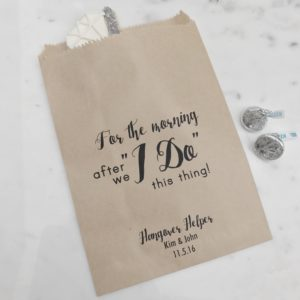 Hotel Guest Wedding Favor Bags