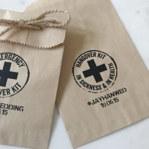 Hangover Kit Wedding Favor Bags