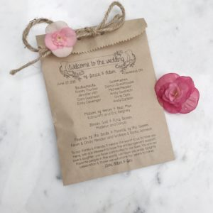 Bohemian Wedding Program Bag