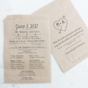 Announcement Wedding Program Bags