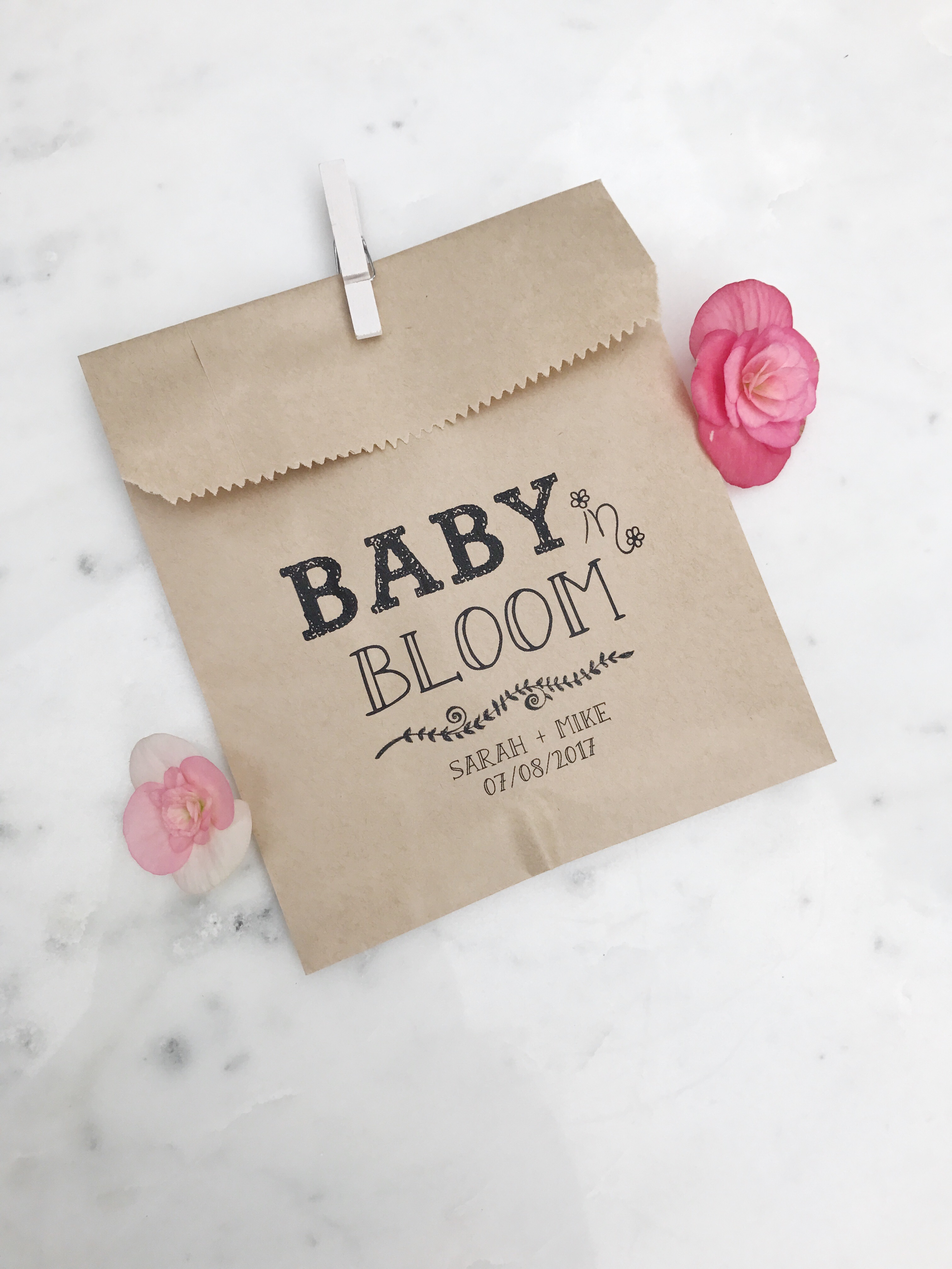 Baby in Bloom! Baby Shower Favor Bags - SALTED Design Studio