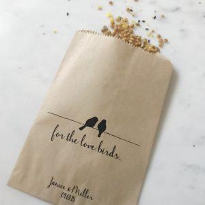 Love Birds Wedding Favor Bags
