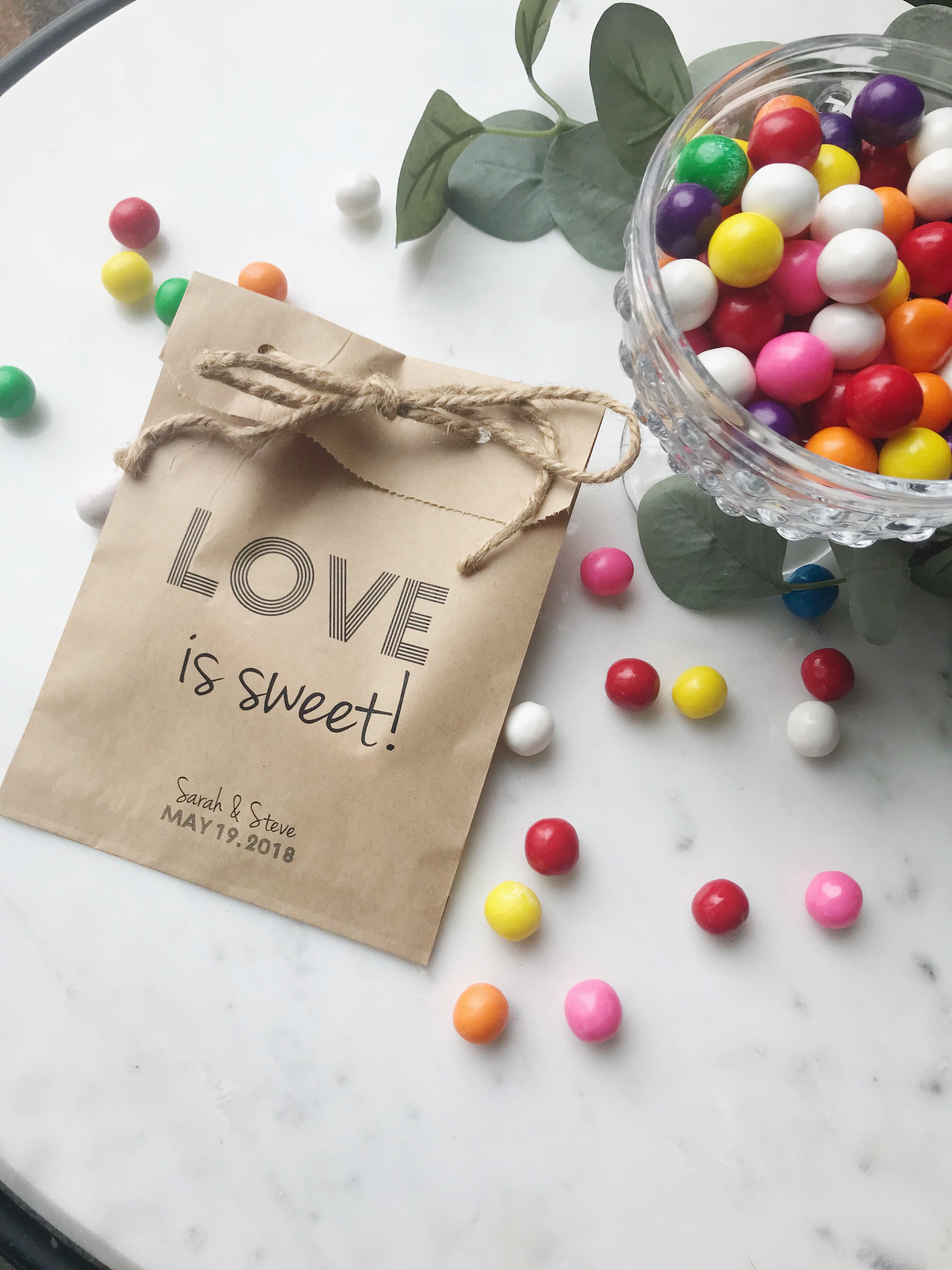 Candy Bar Wedding Favor Bags - SALTED Design Studio