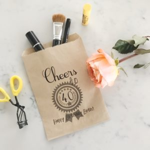 Cheers to 40! Surprise Party Birthday Favor Bags