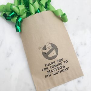 Ghostbuster Birthday Favor Bags