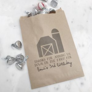 Barn Country Birthday Favor Bags