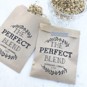 Perfect Blend Wedding Favor Bags