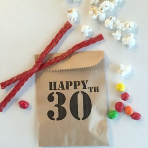 Happy 30th Birthday! Surprise Party Favor Bags