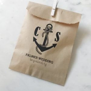 Nautical Wedding Favor Bags