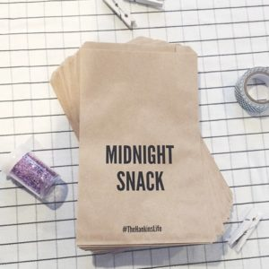 Midnight Snack Wedding Favor Bags