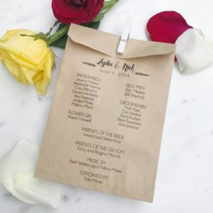 Modern Wedding Program Bag