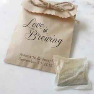 Love Brewing Wedding Favor Bags