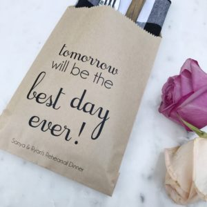 Best Day Ever Rehearsal Dinner Bags