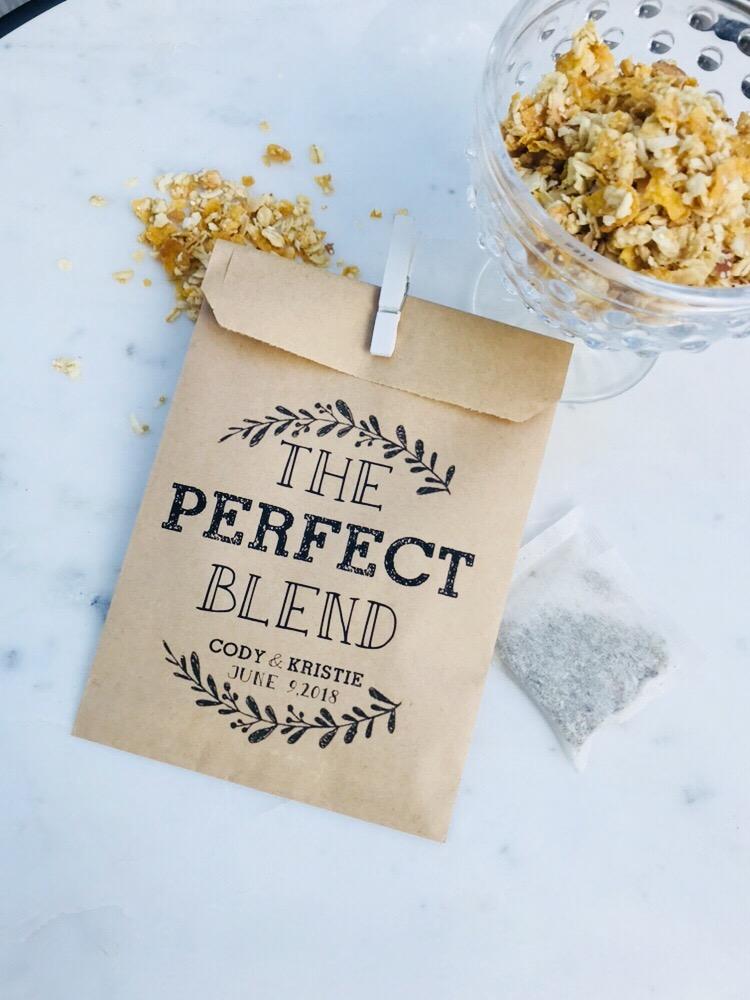 Perfect Blend Wedding Favor Bags Salted Design Studio