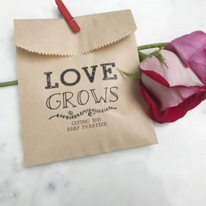 Love Grows Seed Favor Bags