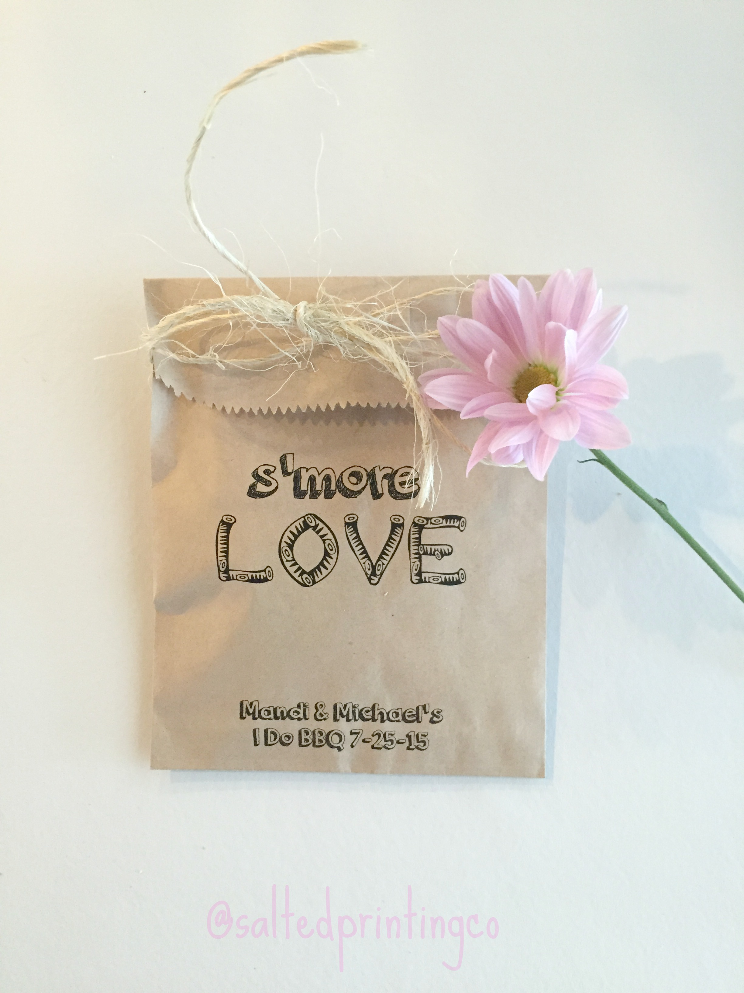 Smore Love Wedding Favor Bags - SALTED Design Studio