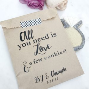 Love Cookies Wedding Favor Bags