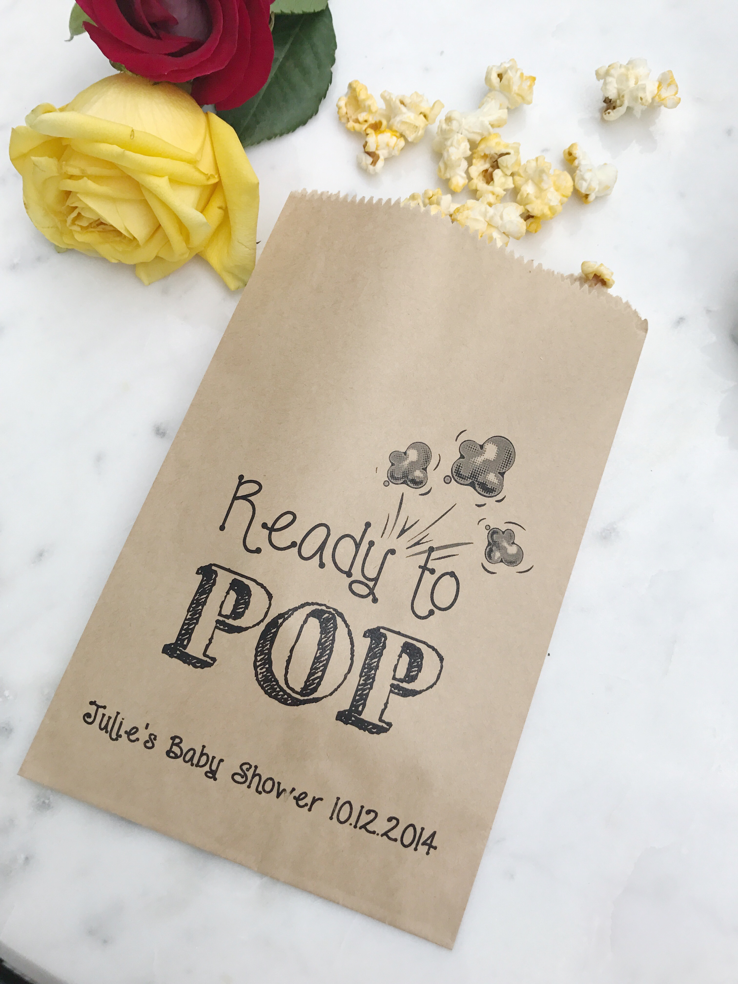 Ready to POP! Baby Shower Favor Bags - SALTED Design Studio