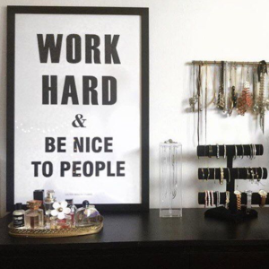 Work Hard Wall Art Printable