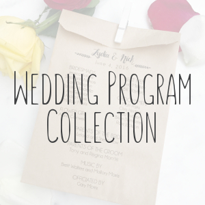 Wedding Program Collection