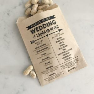 Arrow Wedding Program Bag