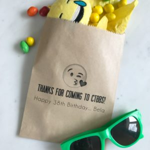 Emoji Birthday Favor Bags