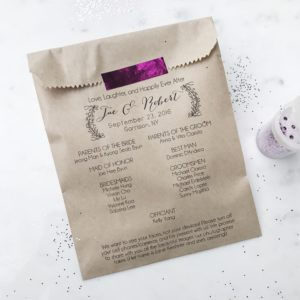Love Laughter Wedding Program Bag