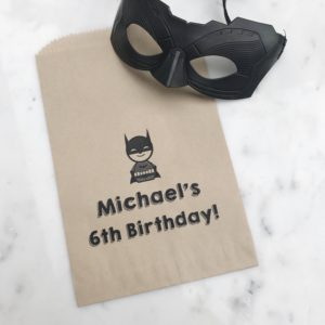 batman birthday favor bag