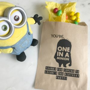 Minion Birthday Favor Bags