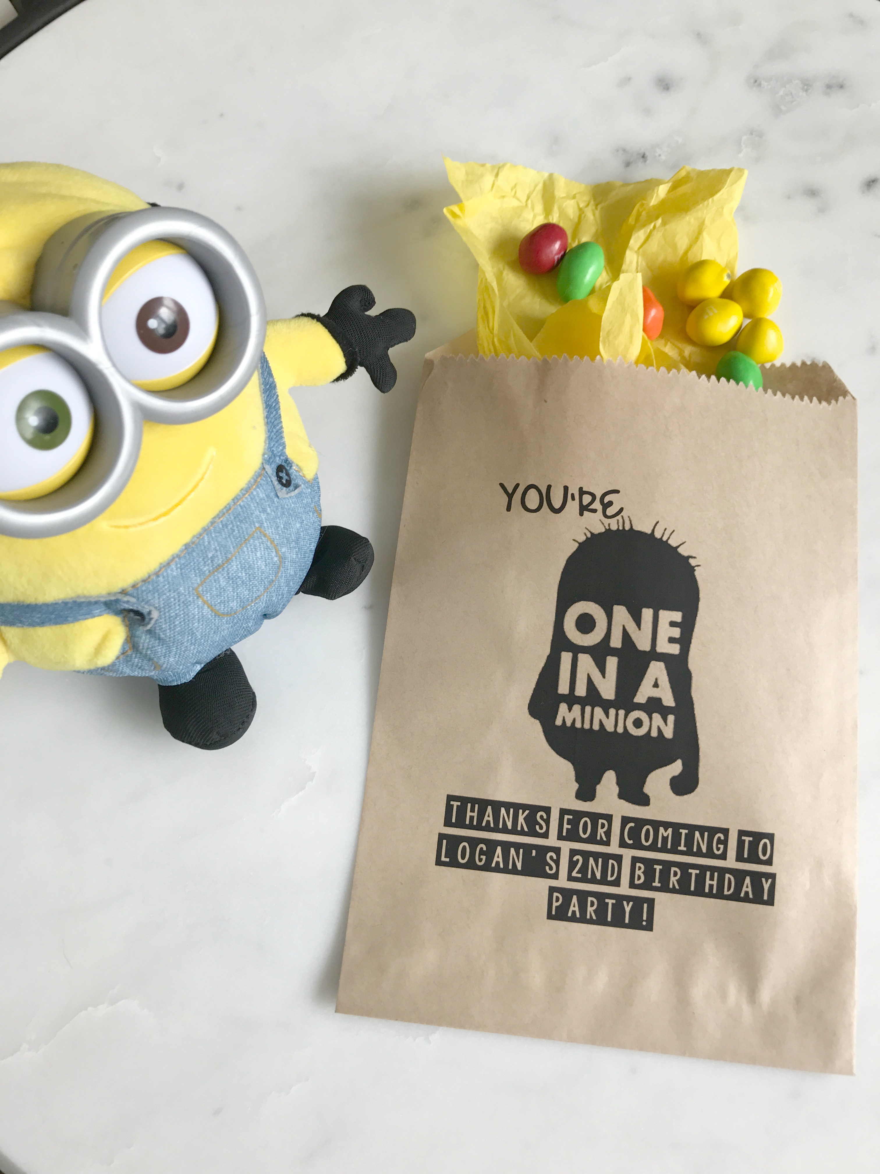 Minion Birthday Favor Bags