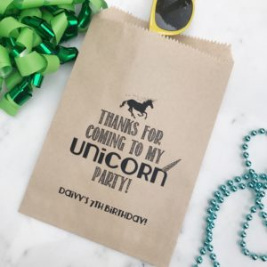 Unicorn Birthday Favor Bags