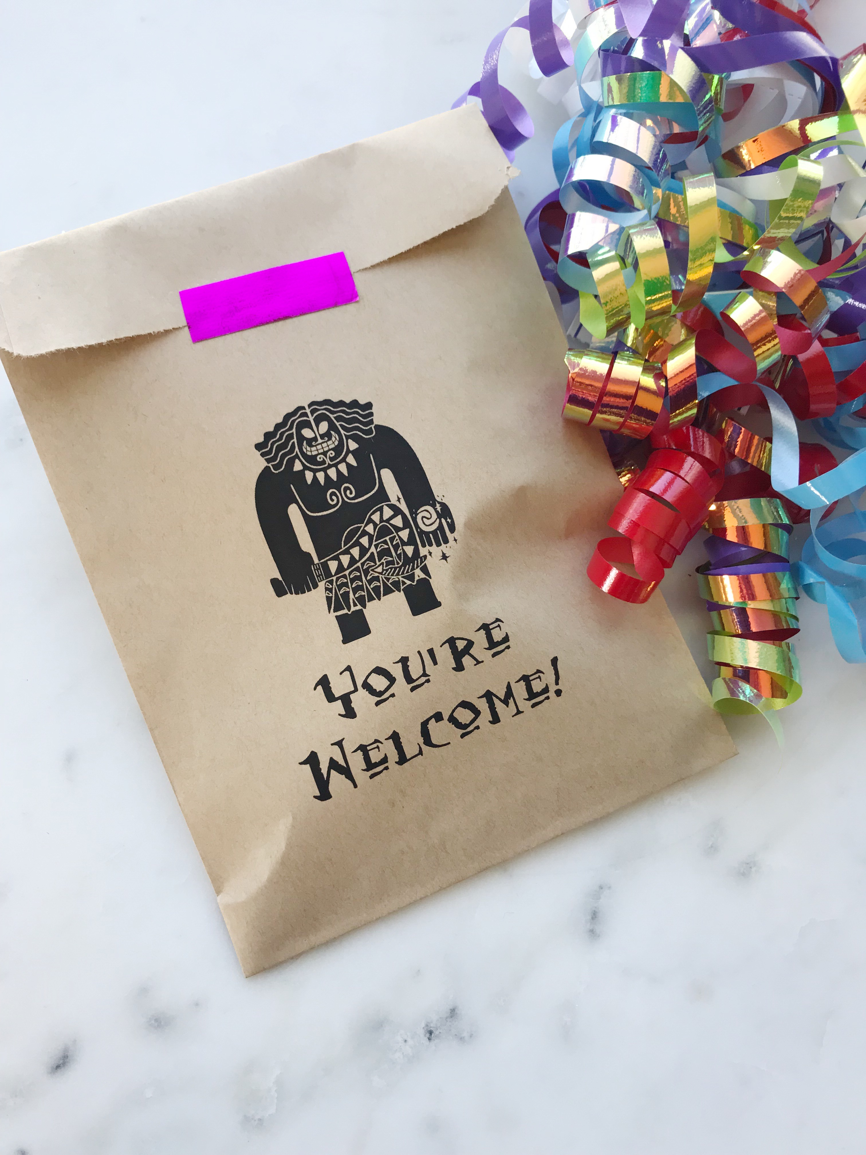 Moana Birthday Favor Bags