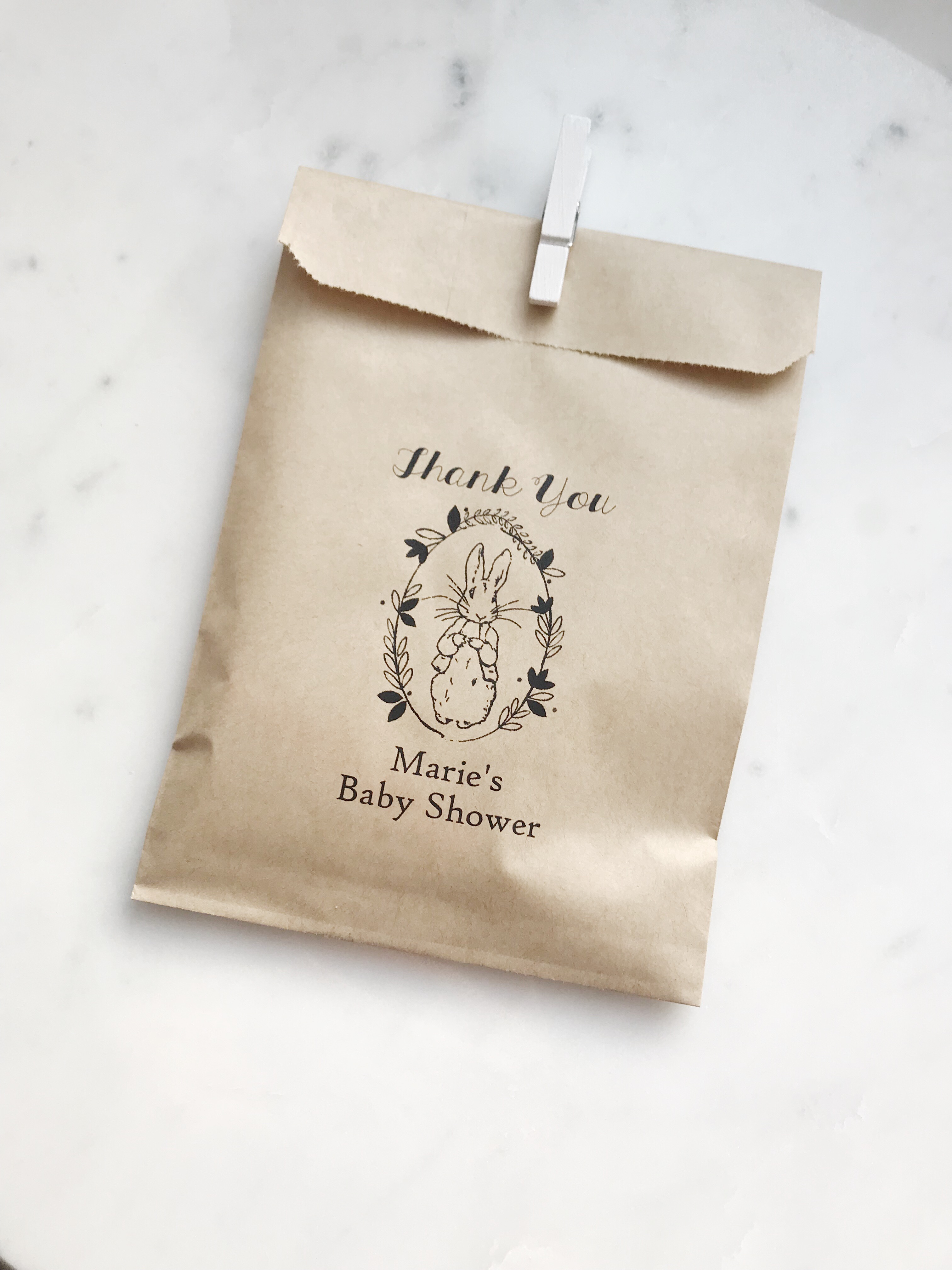 Peter Rabbit Theme Baby Shower Favor Bags - SALTED Design Studio