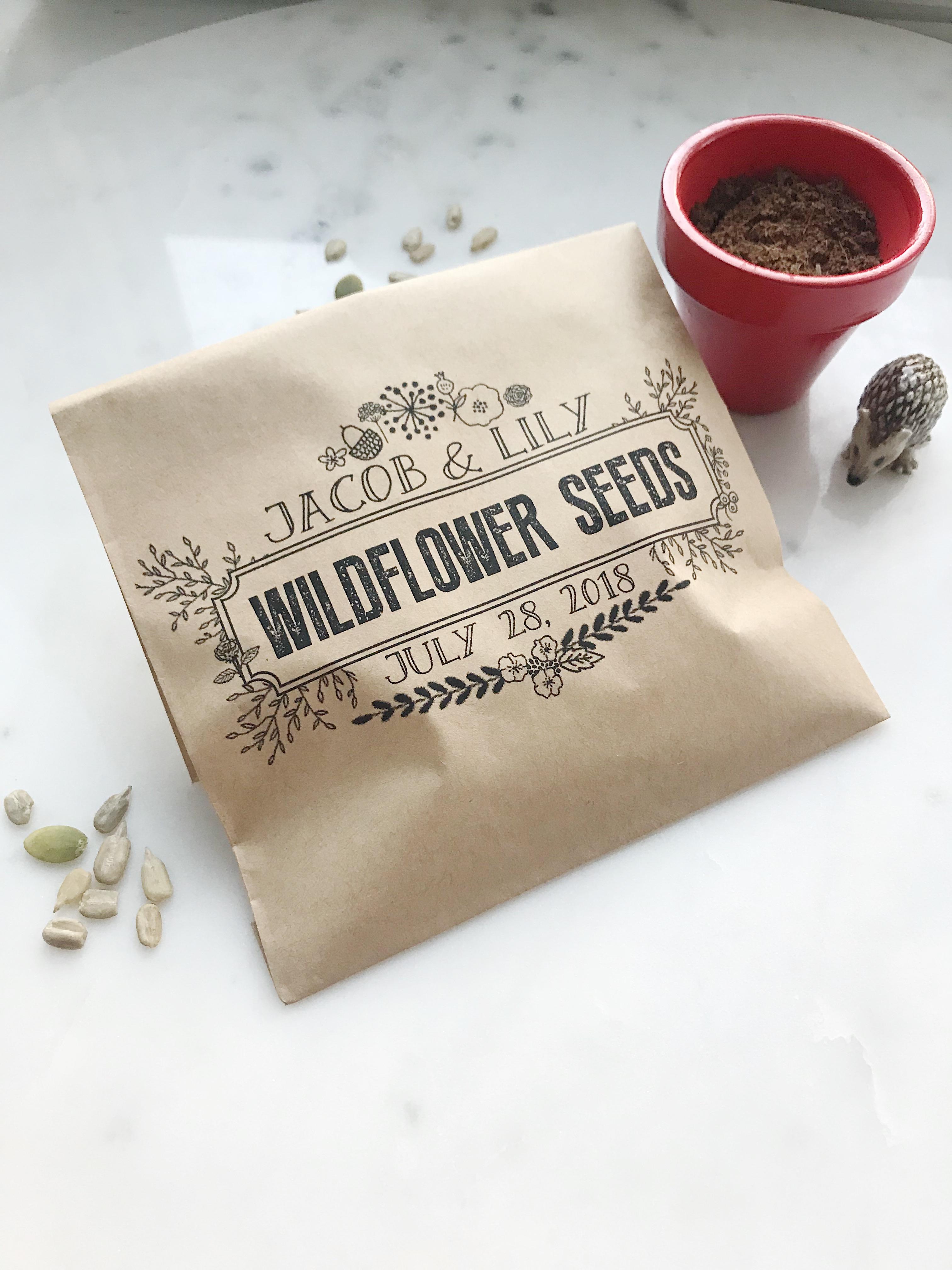 Wildflower Seed Favor Bags - SALTED Design Studio
